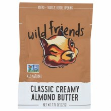 Wild Friends Creamy Almond Butter 1.15 oz packet