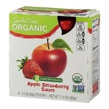 Santa Cruz Organic Strawberry Apple Sauce 4 pack