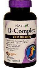Natrol B-Complex 90 Coconut Flavored  fast dissolving tablets
