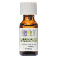 bergamot pure essential oil, aura cacia .5oz