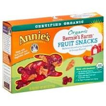 Bernie's Farm, Annie's organic fruit snacks 5 .8 oz pouches
