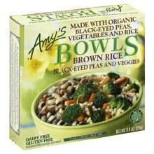 Amy's Brown Rice, Black-Eyed Peas and Veggies Bowl 9 oz