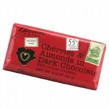 Cherries & Almonds in dark chocolate, chocolove xoxox 3.2oz