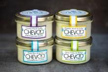 Chevoo Spreadable Creamy Black Truffle Goat Cheese 4 oz