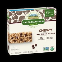 Cascadian Farm Chewy Dark Chocolate Chip 6/1.2 oz bars