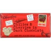 Chocolove Chilies and Cherries in Dark Chocolate 3.2 oz
