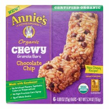 Annie's Chewy Chocolate Chip Granola Bars 6pk