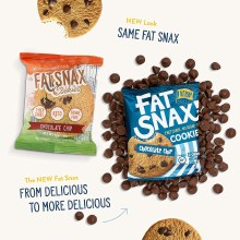 Fat Snax Gluten Free Chocolate Chip Keto Cookies 10/1.4 oz packs