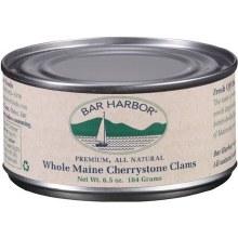 Bar Harbor All Natural Whole Maine Cherrystone Clams 6.5oz