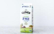 Clover Organic 2% Reduced Fat Milk Half Gallon