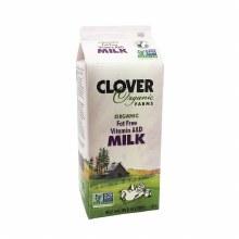 Clover Organic Fat Free Milk Half Gallon