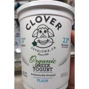 Clover Organic Greek Non Fat Yogurt Plain 32oz