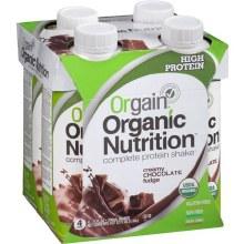 Orgain Organic Chocolate  Nutritional Shakes 11 oz
