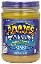 Adams Creamy 100% natural peanut butter 16oz