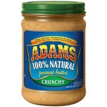 Adams Crunchy 100% Natural Peanut butter 16oz