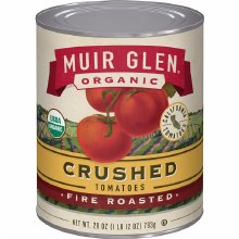 Muir Glen Crushed Fire Roasted Tomatoes 28 oz