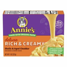 Annie's Delux Shells and Cheddar 11.3 oz
