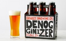 Drakes Denogginizer Double IPA 6 pack 12 ounce bottles