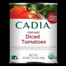 Cadia Diced Organic Tomatoes 28 oz