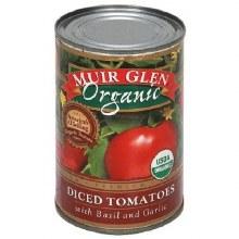 Muir Glen Diced Tomatoes with Basil+Garlic