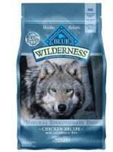Blue BuWilderness Grain Free Chicken Flavored Adult Dry Dog Food 4.5 lb bag