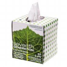 Seventh Generation 100% recycled facial tissues 85 2-ply tissues