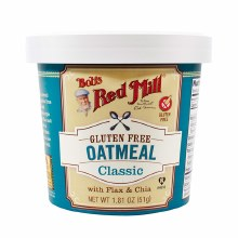 Bob's Red Mill Gluten Free Classic Oatmeal 1.81 oz cup