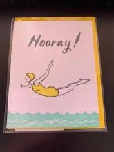 Big Wheel Press-Horray-Blank Greeting Card/Molly Hatch