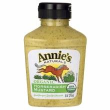 Annie's horseradish mustard organic 9oz
