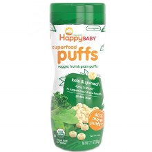 Happy Baby Organics Kale and Spinach Puffs 2.1 oz