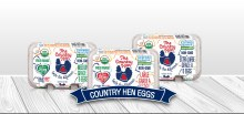 The Country Hen Large Organic Free Range Brown Eggs 1/2 doz.