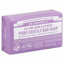 Dr. Bronner's Lavender Hemp Bar Soap 5 oz