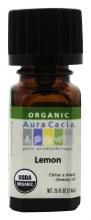 Lemon organic pure essential oil, aura cacia .25oz