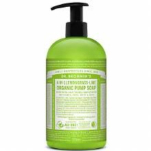 Dr. Bronners Lemongrass Lime liquid soap 24 oz