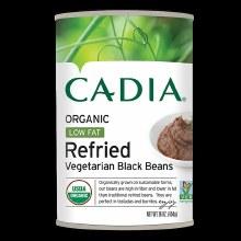 Cadia Organic low fat Refried black beans 16oz