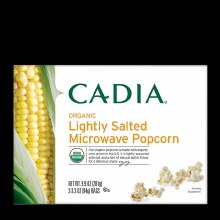 Cadia Organic Lightly Salted Microwave Popcorrn 3/3.3 oz bags