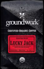 Groundwork Organic Coffee Lucky Jack Signature Blend Medium Roast/Whole Bean 12 oz
