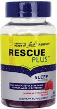 Bach's Rescue Remedy Straberry flavored Melatonin 60 gummies
