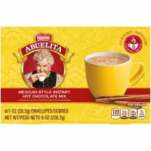 Abuelita Mexican Hot Chocolate 8/1oz instant mix packets