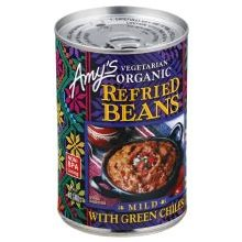 Amy's Organic Refried Beans with mild green chiles 15.4oz