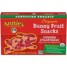 Annie's Organic Summer Strawberry Bunny Fruit Snacks