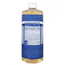 Dr. Bronner's 18 in 1 hemp peppermint pure castile soap 32oz