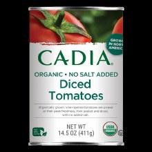 Cadia Organic Diced No Salt Tomatoes 14.5 oz
