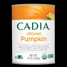 Cadia Organic Pumpkin 15 oz can