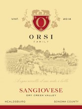Orsi Family Vineyards Dry Creek Valley Orsi Sangiovese 750 mL