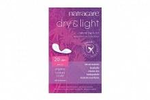 Dry & Light slim organic cotton pad, natracare 20