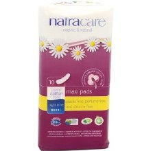 Night Time Maxi Pads, Natracare 10