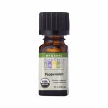 Peppermint Organic pure essential oil, aura cacia .25oz