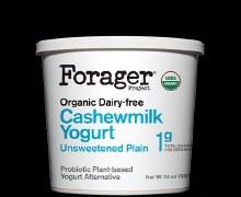 Forager Unsweetened Plain Cashewmilk Yogurt 24 oz