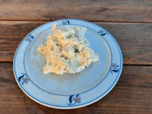 Classic potato salad with a mayonnaise dressing.